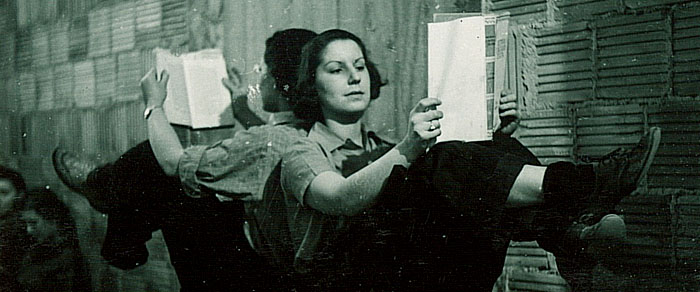Studying Back Stage, 1930
