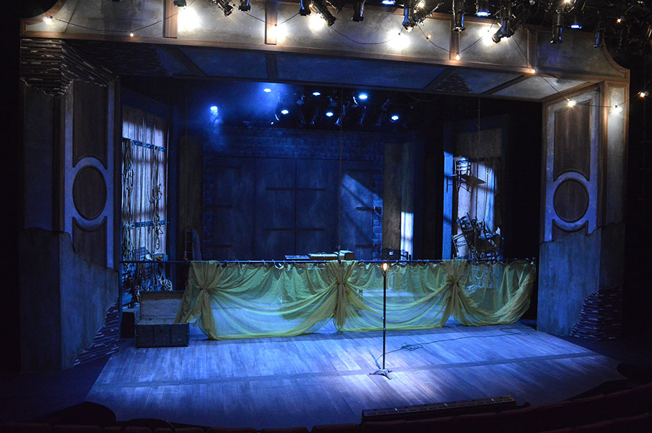 The blank stage of MIDSUMMER, designed by Nic Wilson