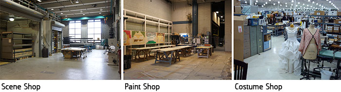 Scene Shop, Paint Shop & Costume Shop