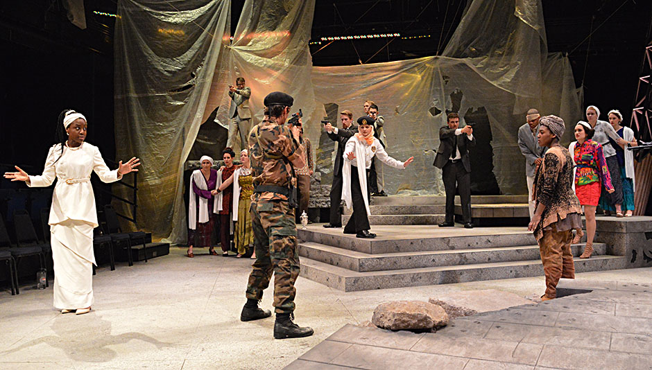 Dress rehearsal of WELCOME TO THEBES