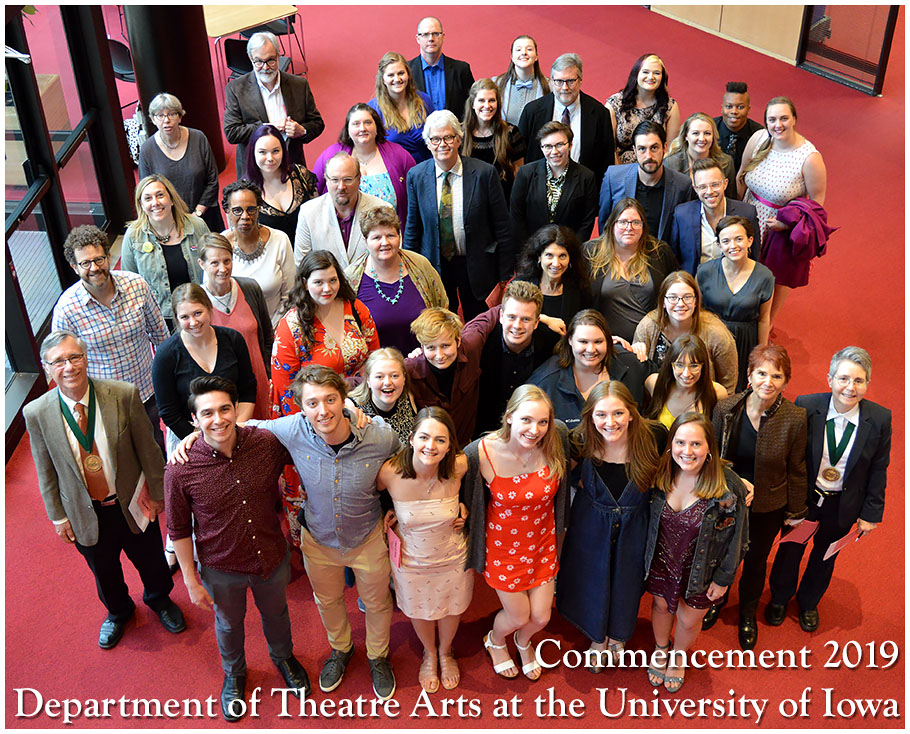 Class of 2019 Department of Theatre Arts at University of Iowa