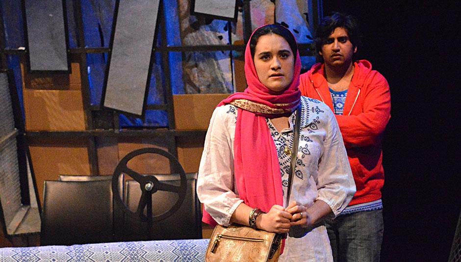 Maya Bassuk & Sambit Misra in a scene from CUT & RUN
