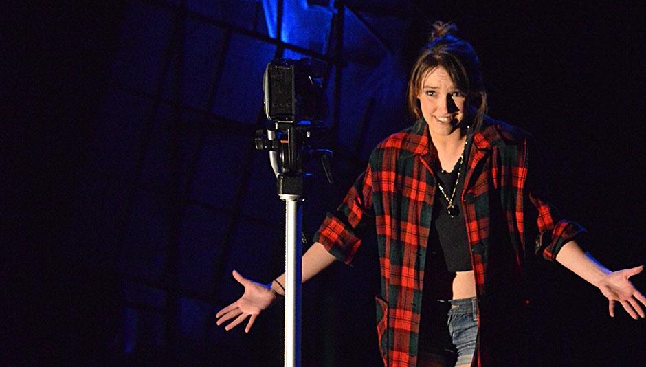 Christina Sullivan in a scene from CUT & RUN, Photo by R. Eric Stone
