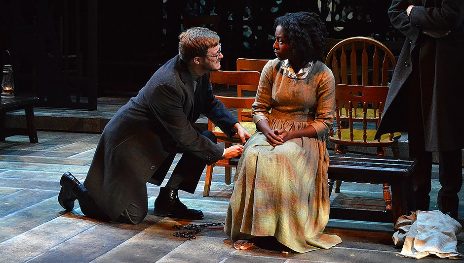 MFA Actors Eli Jolley & Emelia Asiedu in THE CRUCIBLE