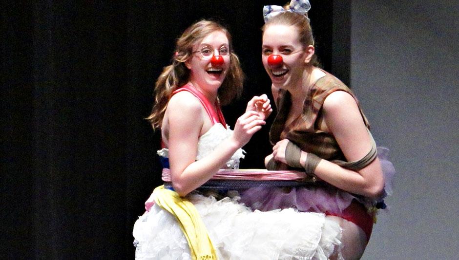 A Scene from Clown Class Final Presentations