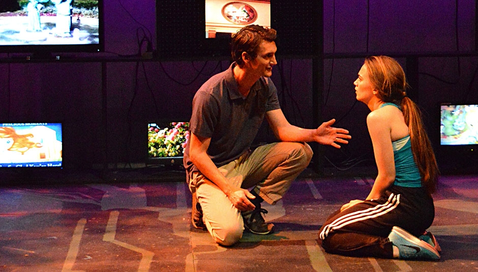 Zachary Twardowski and Taylor Edelle Stuart in a scene from DOXXED