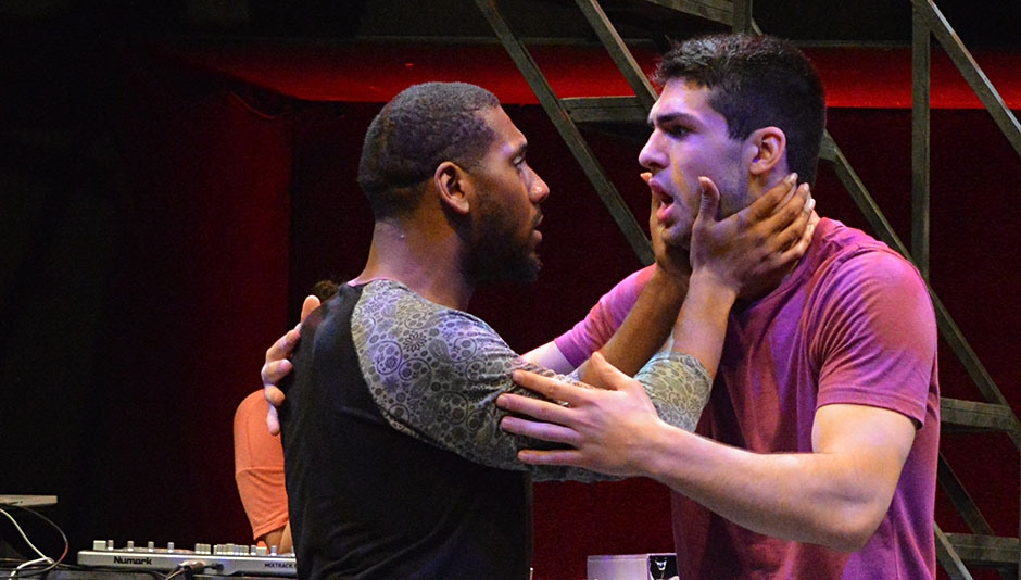 Randryck Lewis & Sage Spiker in rehearsal for ROME SWEET ROME