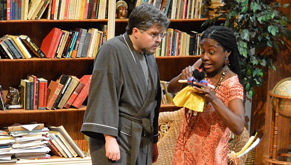 MFA Actors Miles Gatrell & Emelia Asiedu in VANYA...