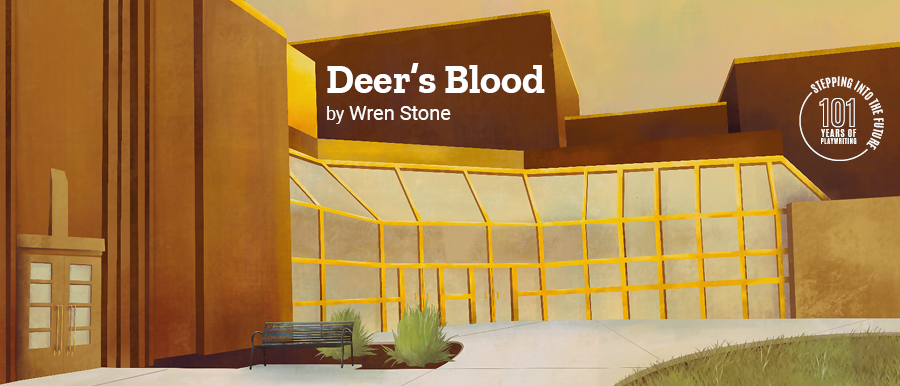 Deer's Blood by Wren Stone. Illustration of Theatre Building.