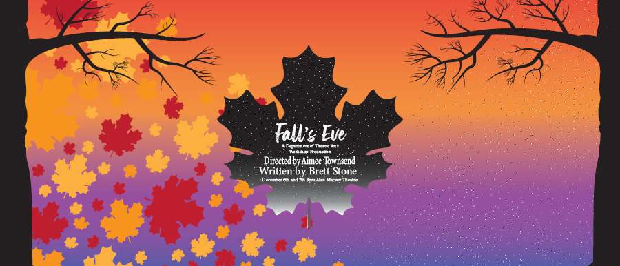 Fall's Eve poster image. Trees with fall leaves.