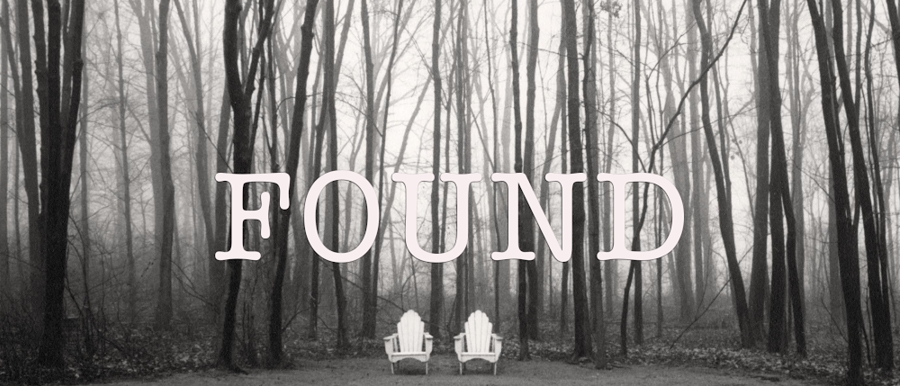 Found poster image. Chairs in the woods.