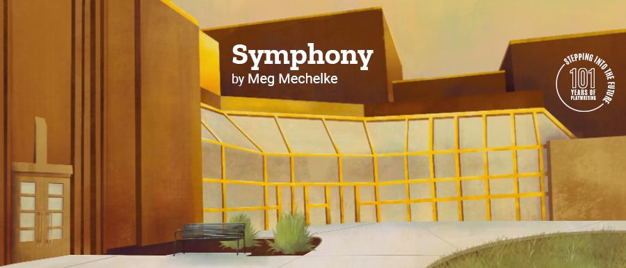 Symphony by Meg Mechelke. Illustration of Theatre Building.