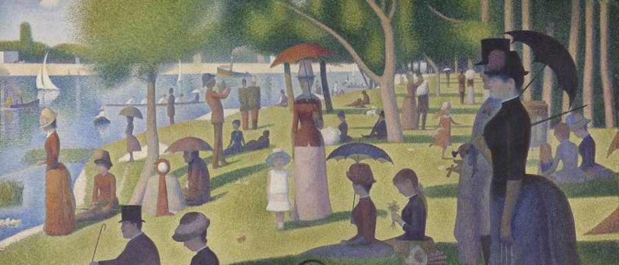 Georges Seurat, A Sunday on La Grande Jatte — 1884, 1884–1886. The Art Institute of Chicago.