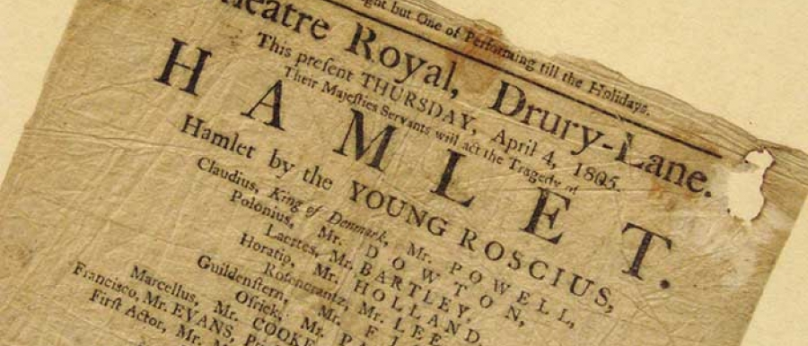 """Hamlet"" from Drury Lane, 1805"