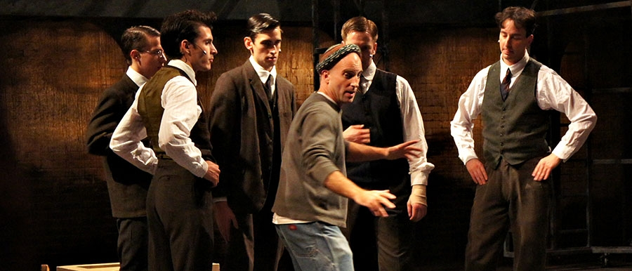 Assistant Professor Paul Kalina working with the cast of SPRING AWAKENING